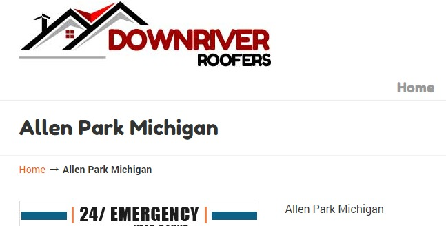 Roofing in Allen Park, Michigan