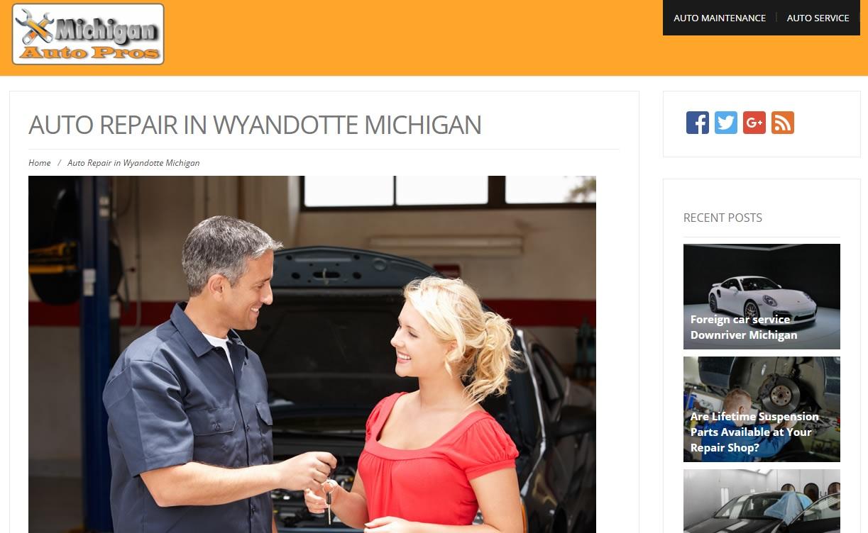 Auto Repair in Wyandotte Michigan