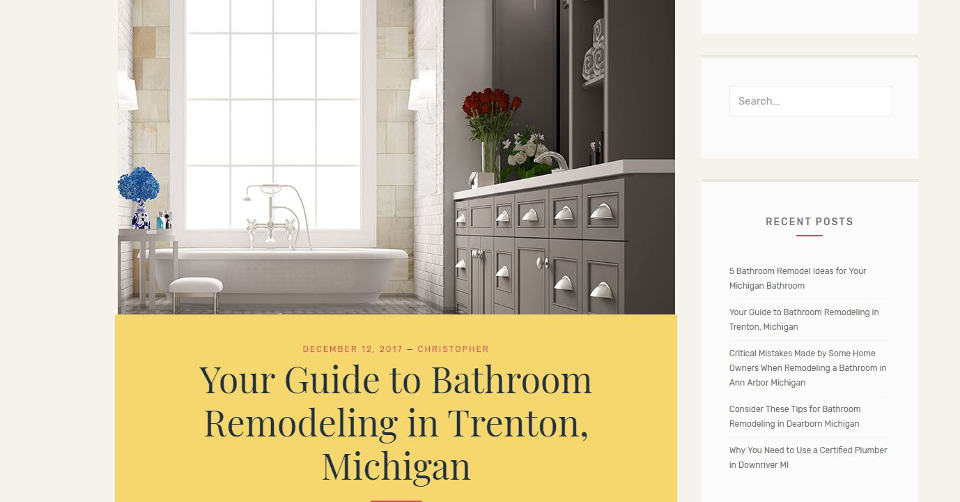 Bath Remodeling Trenton Michigan