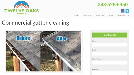 Commercial Gutter Cleaning in Novi, Michigan