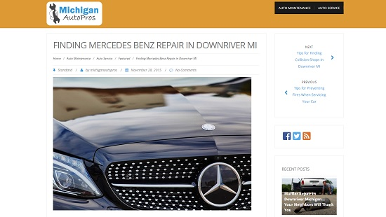 Mercedes Benz Repair Downriver Michigan