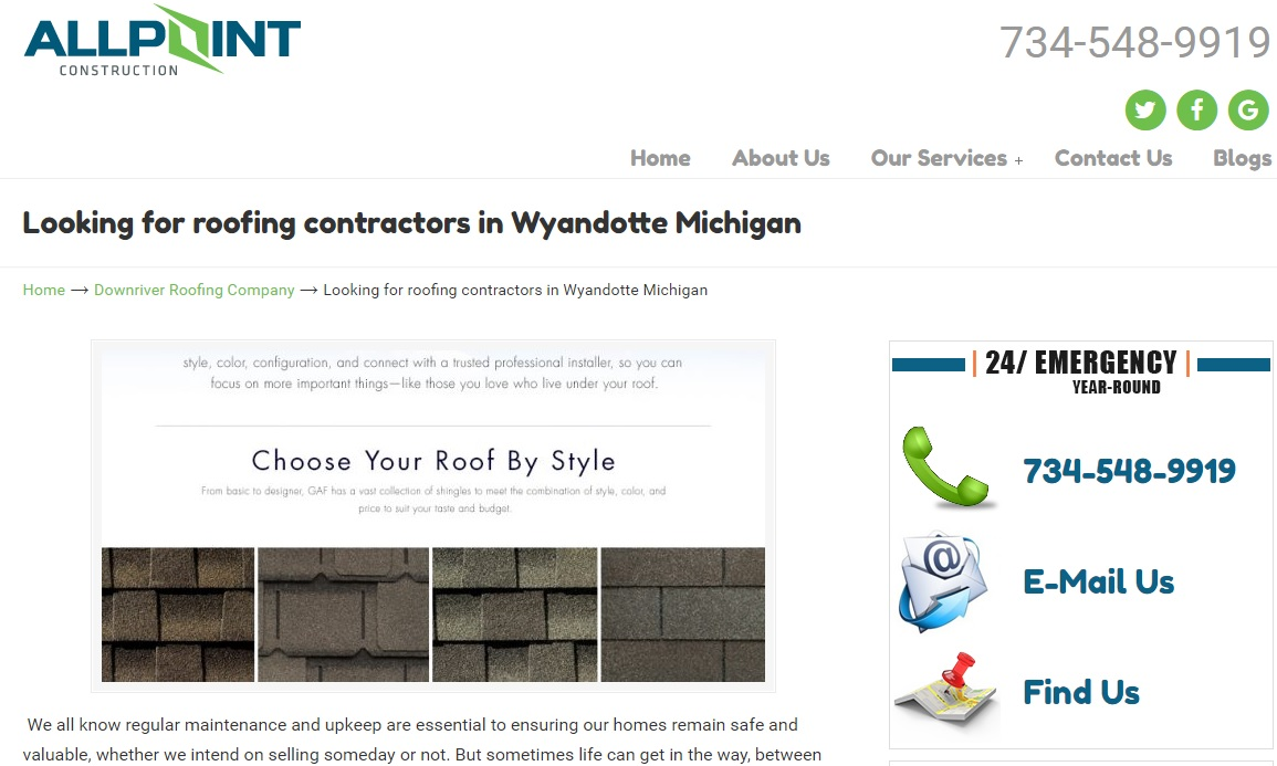 Roofing Contractors Wyandotte Michigan
