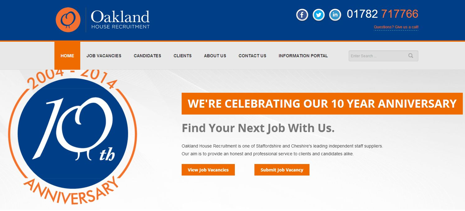 Stoke-on-Trent Jobs – Find them at Oakland House Recruitment