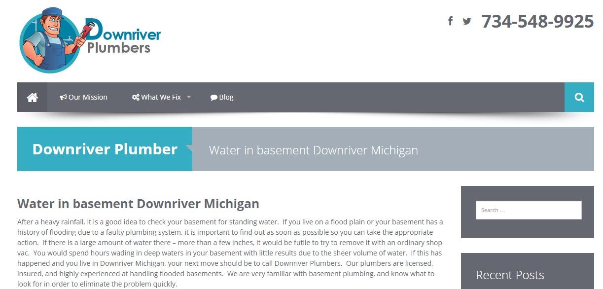 Water in Basement – Downriver Michigan