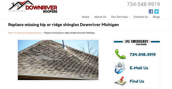 Ridge Shingles Downriver Michigan