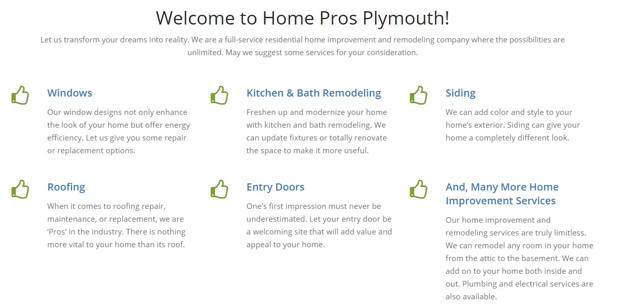 Home Improvements in Plymouth Michigan