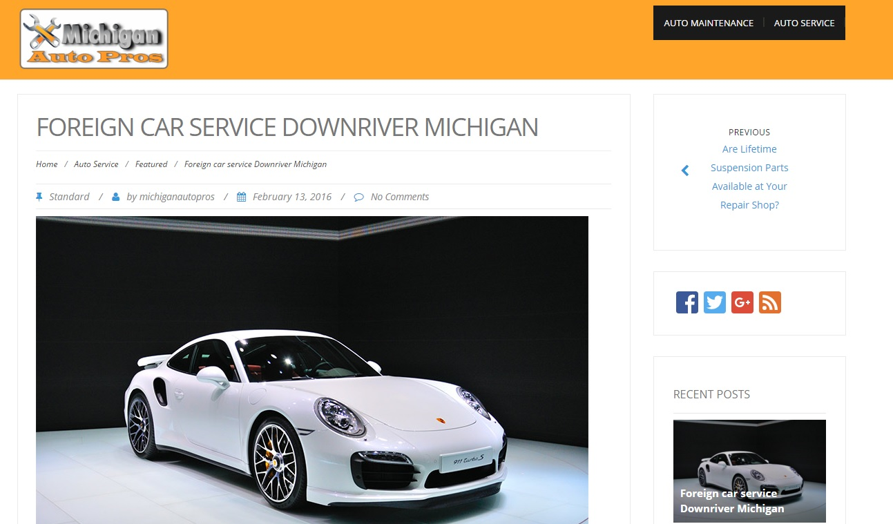 Foreign Car Service in Downriver, Michigan