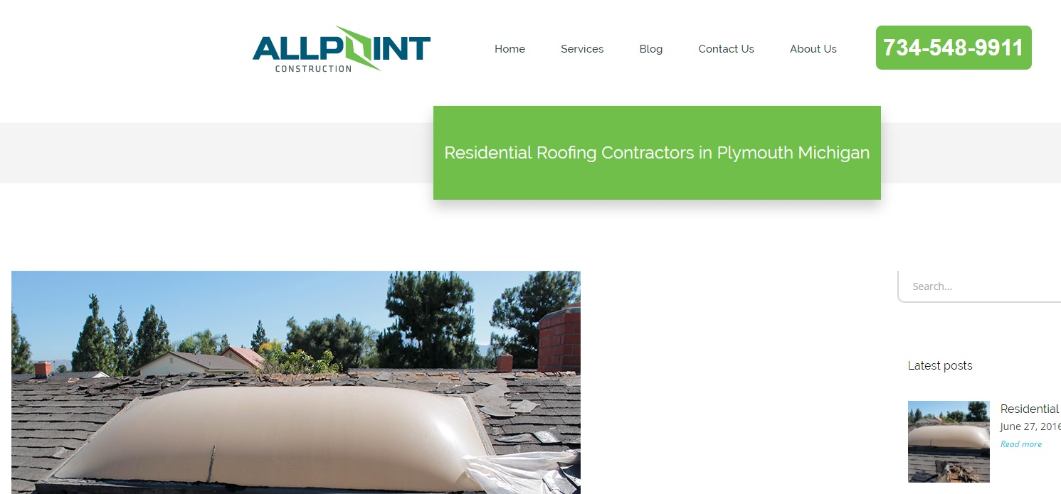 Residential Roofing Contractors in Plymouth Michigan