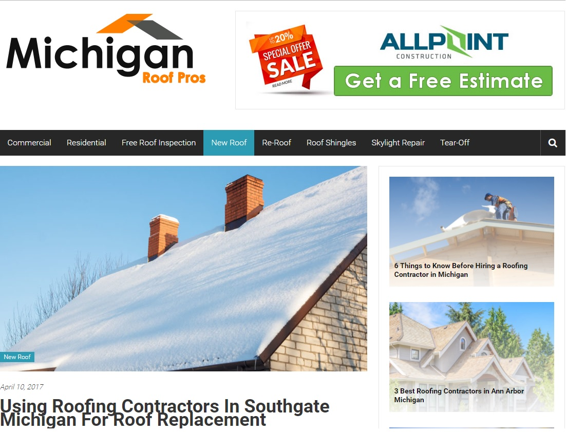 Roofing Contractors in Southgate Michigan