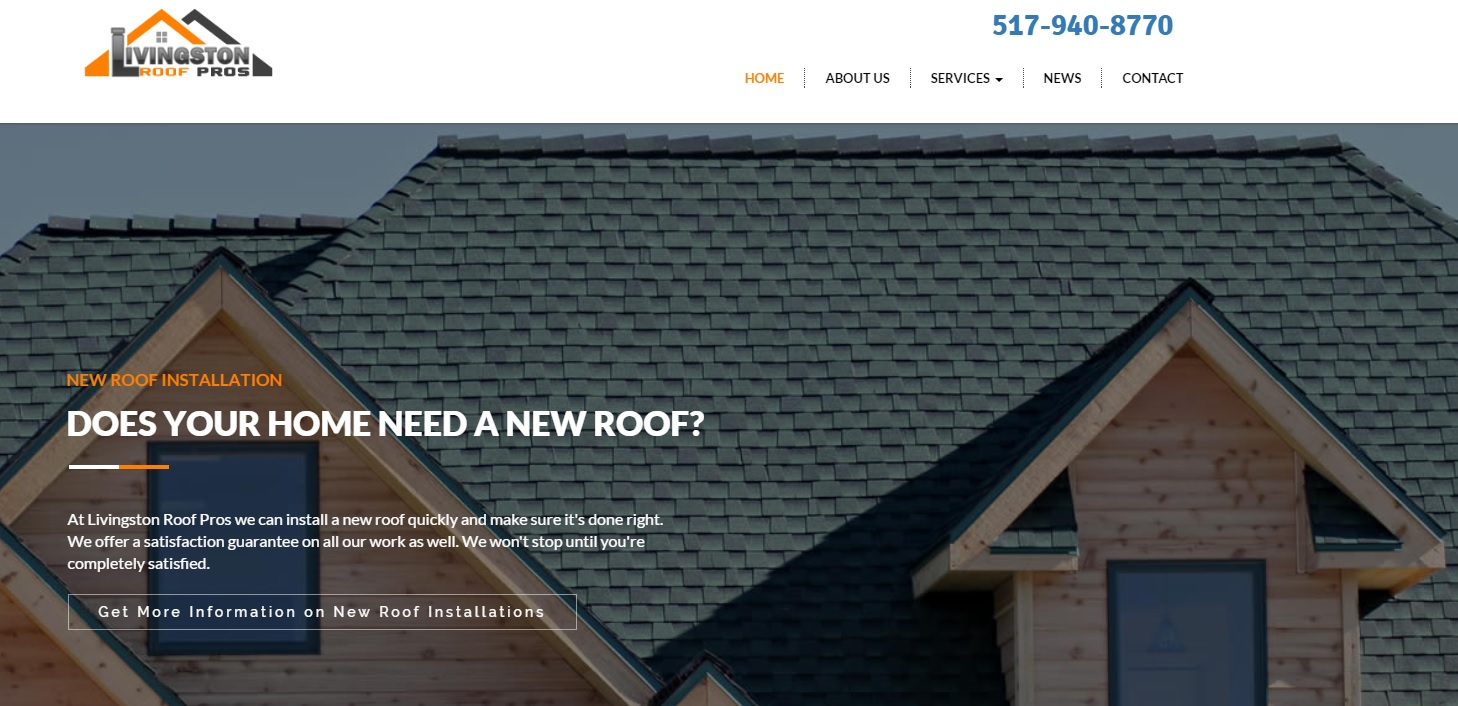 Roofing Contractors in Livingston County Michigan