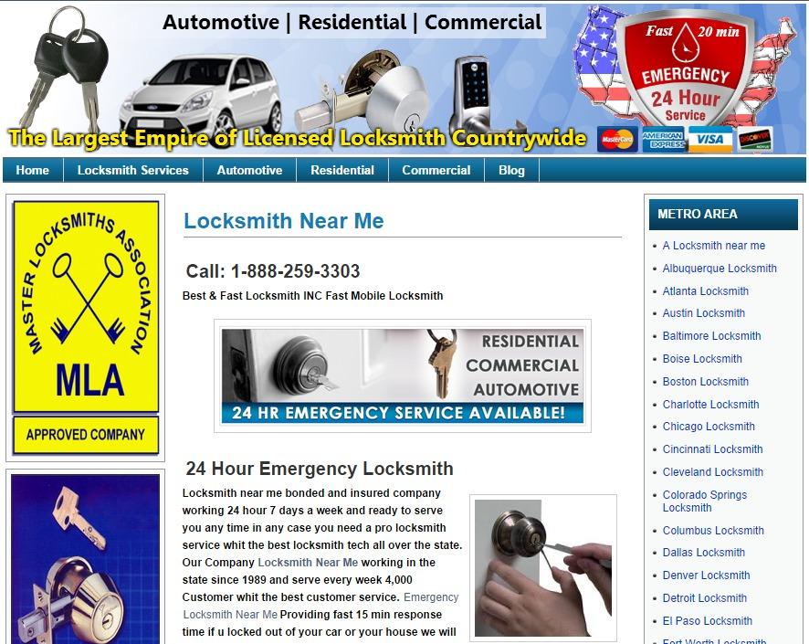 24 Hours Emergency Locksmiths