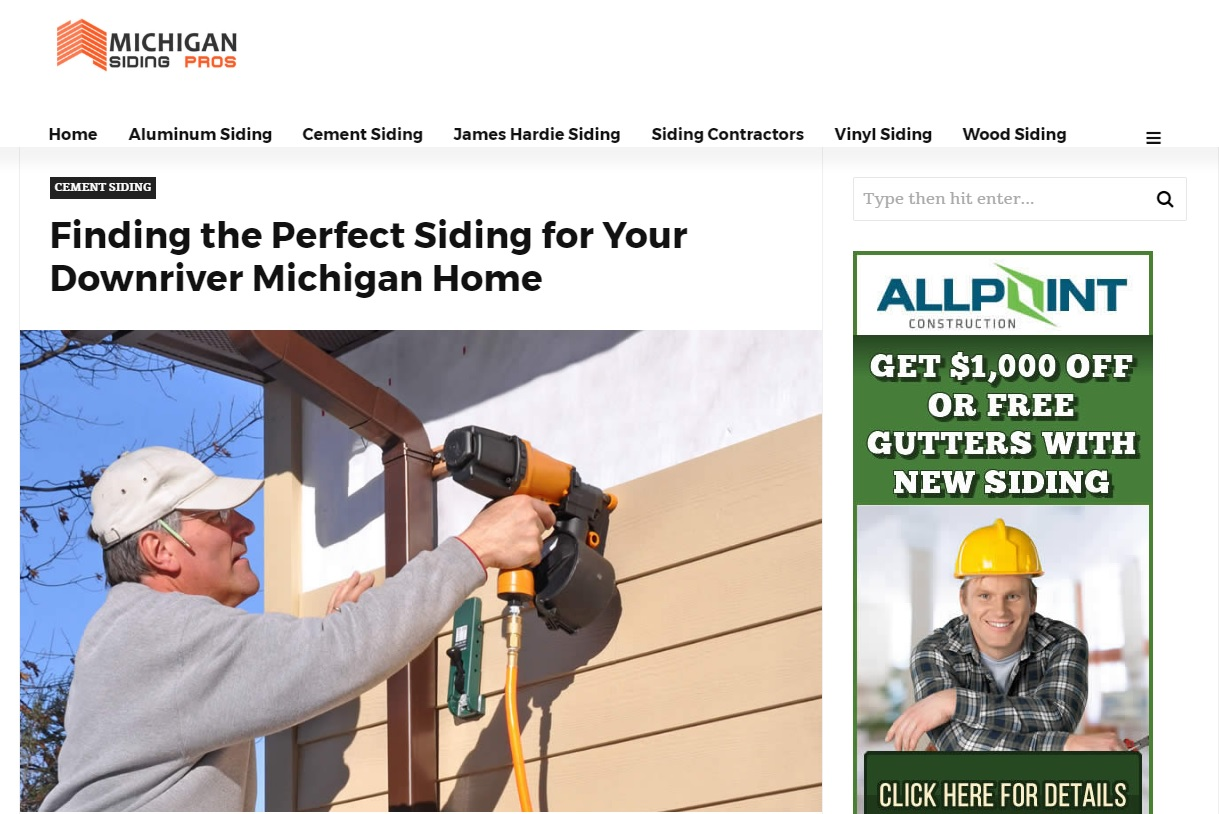 Siding Contractor Downriver Michigan