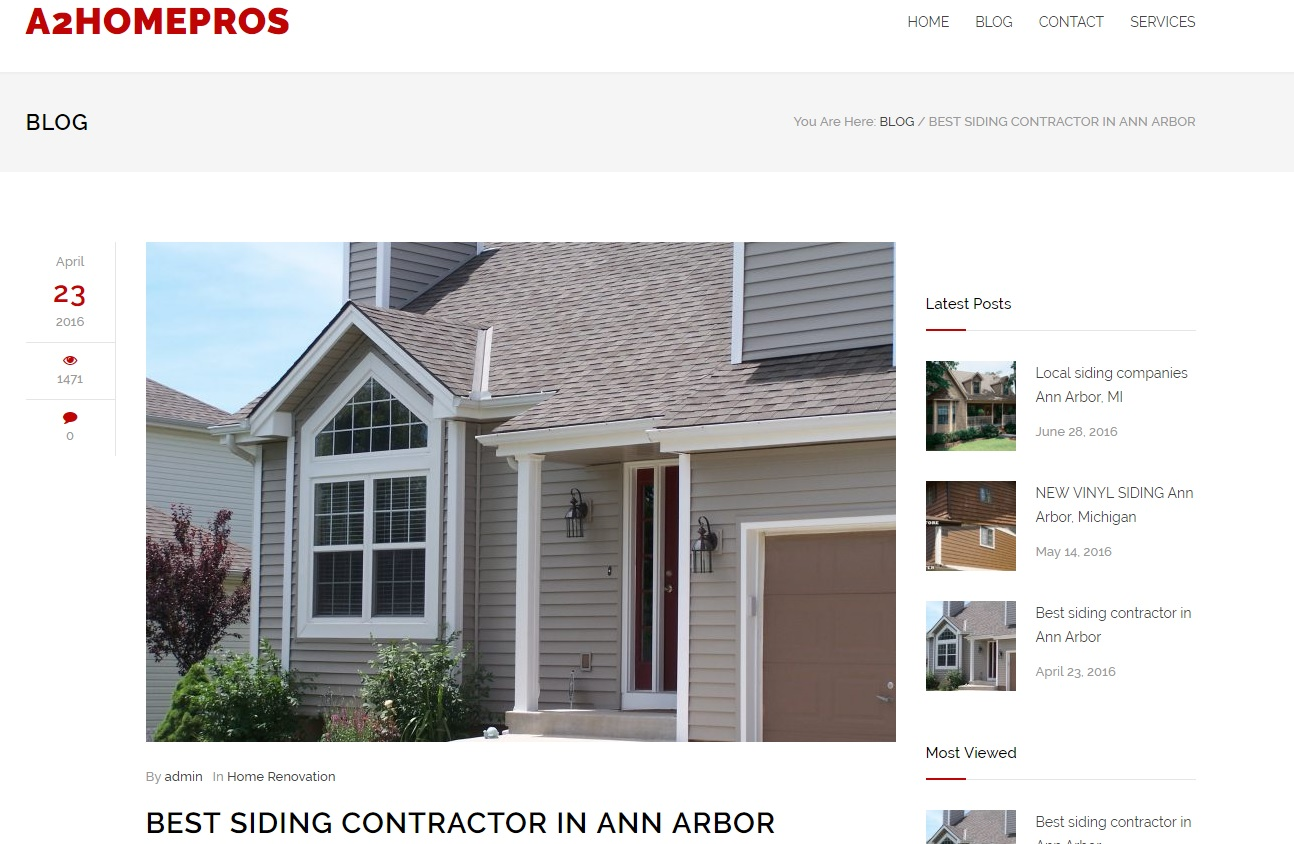Siding Contractors in Ann Arbor Michigan
